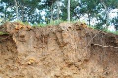 Kleurrijk erosieland Stock Foto