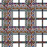 Kleurrijk etnisch geometrisch Azteeks geruit Schots wollen stof naadloos patroon, vector royalty-vrije illustratie