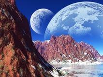 Kleurrijk fantasielandschap Stock Afbeelding