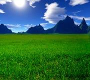 Kleurrijk fantasielandschap Stock Foto