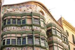 Kleurrijk flatgebouw - detail Royalty-vrije Stock Foto