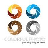 Kleurrijk fotoembleem Stock Foto