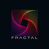 Kleurrijk Fractal Abstract Vormsymbool Royalty-vrije Stock Afbeelding
