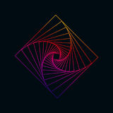 Kleurrijk Fractal Abstract Vormsymbool stock illustratie