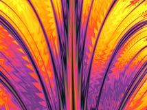 Kleurrijk fractal patroon met vlotte lijnen Stock Foto