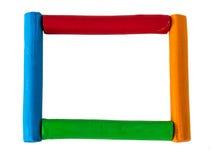 Kleurrijk frame op witte achtergrond Stock Foto