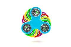 Kleurrijk friemel spinner Stock Foto