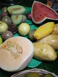 Kleurrijk fruit in Thailand royalty-vrije stock foto's