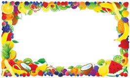 Kleurrijk fruitframe Royalty-vrije Stock Foto's