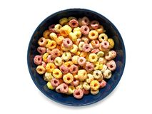Kleurrijk fruitig ontbijtgraangewas royalty-vrije stock foto's