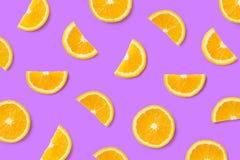 Kleurrijk fruitpatroon van oranje plakken royalty-vrije stock foto's
