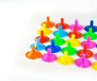 Kleurrijk geïsoleerd plastiek Royalty-vrije Stock Afbeelding