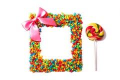 Kleurrijk geïsoleerdr suikergoed Stock Foto's
