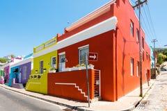 Kleurrijk gebied BO-Kaap van Cape Town Stock Fotografie