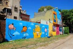 Kleurrijk gebied in La Boca Royalty-vrije Stock Foto