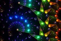 Kleurrijk gebrandschilderd glasvenster Stock Afbeeldingen