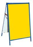 Kleurrijk geel straatteken. Stock Foto's