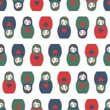 Kleurrijk Genesteld poppen naadloos patroon stock illustratie
