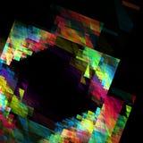Kleurrijk geometrisch kader op een zwarte achtergrond Royalty-vrije Stock Foto