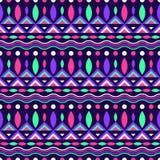 Kleurrijk geometrisch naadloos patroon in neonkleuren Stock Foto's