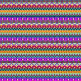 Kleurrijk Geometrisch Strepenpatroon Royalty-vrije Stock Afbeelding