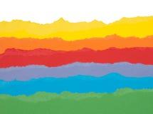 Kleurrijk gescheurd document Stock Foto