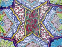 Kleurrijk geschilderd ontwerp Stock Afbeelding