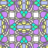 Kleurrijk gestileerd mozaïek naadloos patroon Royalty-vrije Stock Foto