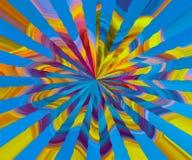 Kleurrijk geweven behang Heldere kleuren De kunstblad van de themastijl Kleurenstralen in richtingen worden verspreid die vector illustratie