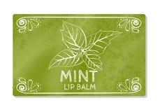 Kleurrijk geweven etiket, sticker voor cosmetischee producten Het verpakkingsontwerp van de lippenstift met de smaak van het verf Stock Afbeelding