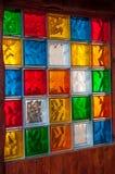 Kleurrijk glasmozaïek stock afbeeldingen
