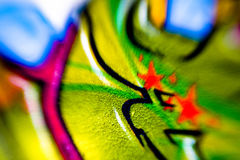 Kleurrijk graffitiart. Royalty-vrije Stock Afbeelding