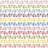 Kleurrijk Grens Naadloos patroon Als achtergrond Stock Foto's