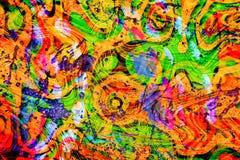 Kleurrijk groene, oranje en blauwe de abstarctzomer, feestelijke en partijbehangachtergrond royalty-vrije stock fotografie