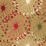 Kleurrijk grunge radiaal patroon Decoratieve bloemen naadloze achtergrond voor kaarten, ambachten, textiel, behang, Web-pagina's  vector illustratie