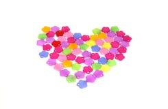 Kleurrijk hart Stock Fotografie