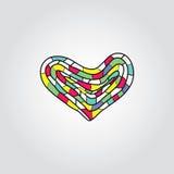 Kleurrijk hart Royalty-vrije Stock Foto