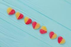 Kleurrijk hart gevormd suikergoed Royalty-vrije Stock Foto's