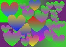 Kleurrijk hart, gradiënt, patroon, veelvoudige grootte, levendige stijl, vector royalty-vrije stock afbeelding