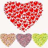 kleurrijk hart van harten op een witte achtergrond Royalty-vrije Stock Afbeeldingen