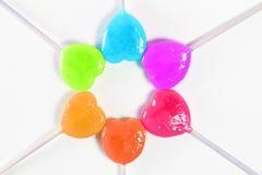 Kleurrijk hartsuikergoed Stock Afbeelding