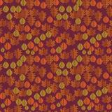 Kleurrijk herfstgebladerte oranje patroon Stock Fotografie