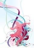 Kleurrijk het Dansen Ontwerp   Royalty-vrije Illustratie