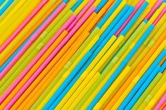 Kleurrijk het drinken stro Stock Afbeelding