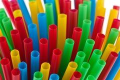 Kleurrijk het drinken stro Royalty-vrije Stock Foto's