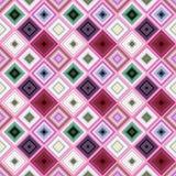 Kleurrijk het herhalen diagonaal vierkant patroon - vector betegeld mozaïekontwerp vector illustratie