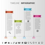 Kleurrijk het ontwerpmalplaatje van chronologieinfographic Vector Royalty-vrije Stock Afbeeldingen