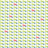 Kleurrijk hond grafisch patroon Stock Afbeeldingen