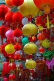Kleurrijk Hong Kong Hanging Lanterns Stock Afbeelding