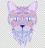 Kleurrijk hoofd van kat Royalty-vrije Stock Foto's